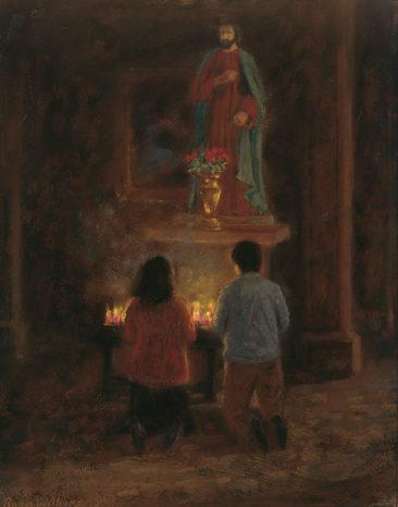 """Prayer<br />16"""" X 12"""" Pastel"""