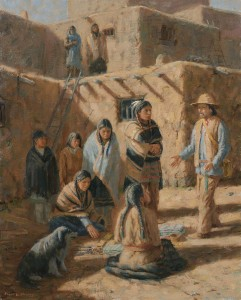 oil painting of the indians of the southwest