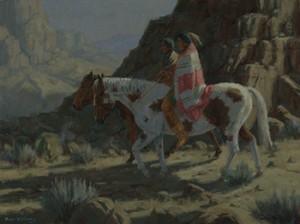 Williams-Canyon Moon-18x24 hopi southwest painting fine art nocturn