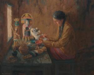 Kachina dolls hopi southwest fine art painting roger williams