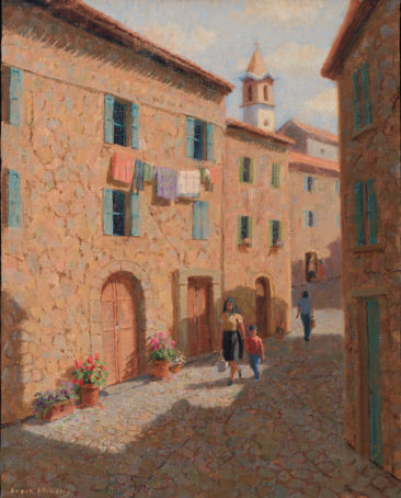 Morning in Montisi<br />20 x 16 oil
