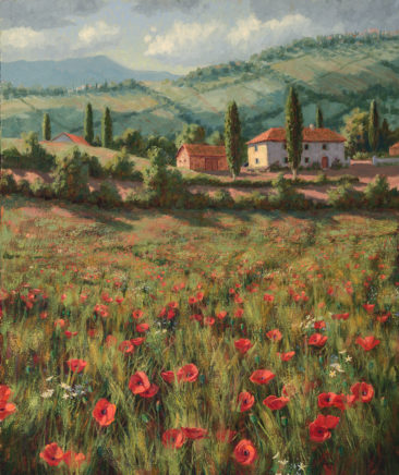 Spring Poppies<br /> 38 x 30 oil